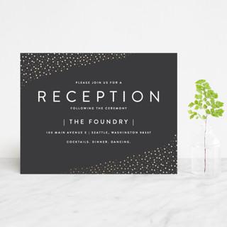 Modern Glam Foil-Pressed Reception Cards