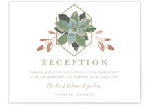 Succulent Surround Foil-Pressed Reception Cards