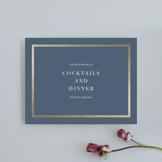 West Village Foil-Pressed Reception Cards