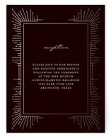 Geometric Sparks Foil-Pressed Reception Cards