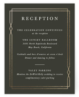 Traditional Twist Foil-Pressed Reception Cards