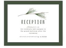 Rustic Wedding Reception Cards