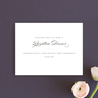 Charming Go Lightly Reception Cards