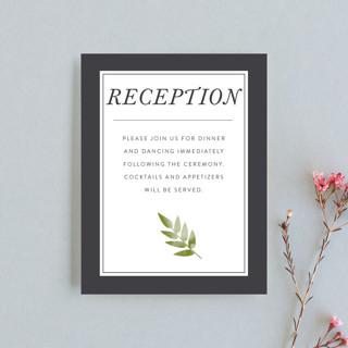 Watercolor Leaf Reception Cards