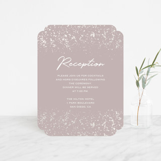 Paint Splash Gloss-Press™ Reception Card