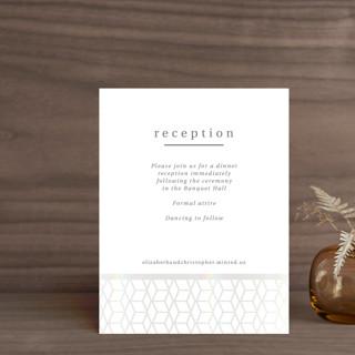 Geometric Pattern Gloss-Press™ Reception Card
