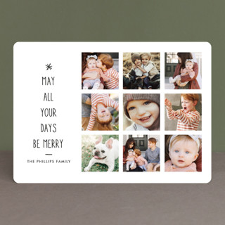 Be Merry Starred Christmas Photo Cards