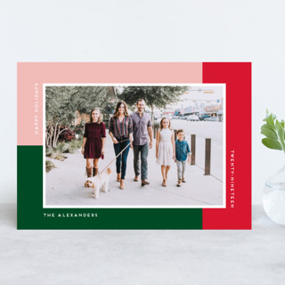 Rectangles Christmas Photo Cards