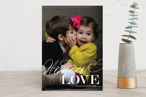 Wonderful Love Christmas Photo Cards