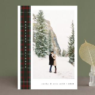 wintry tartan Christmas Photo Cards