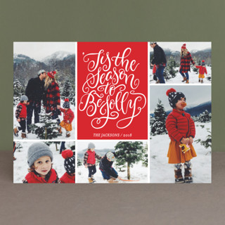 Be Jolly Collage Christmas Photo Cards