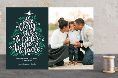The Glory, The Miracle, The Wonder Christmas Photo Cards