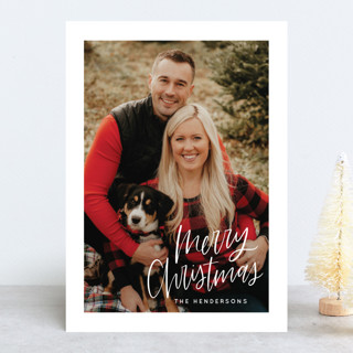 Modern Merry Christmas Christmas Photo Cards