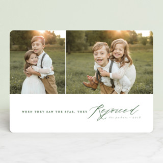 They Rejoiced Christmas Photo Cards