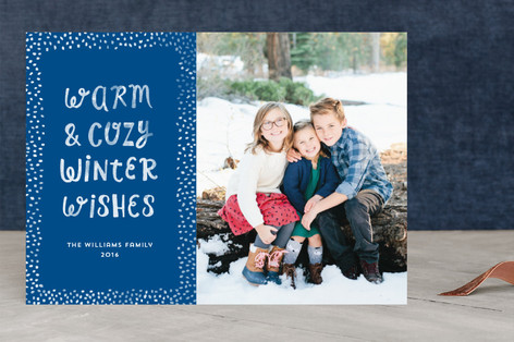 Warm & Cozy Wishes Christmas Photo Cards