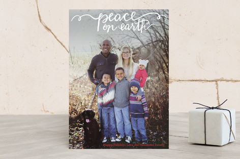 Hand Painted Peace on Earth Christmas Photo Cards