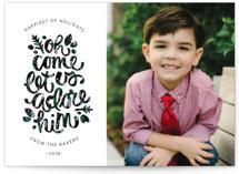 Adore Him Christmas Photo Cards