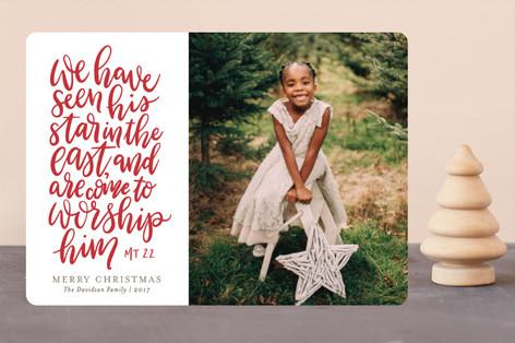 Eastern Star Christmas Photo Cards