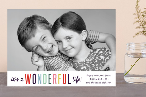 It's A Wonderful Life New Year's Photo Cards