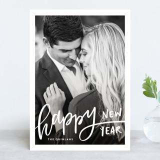 Handwritten Happy New Year's Photo Cards