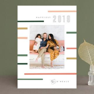 Mod Stripe New Year's Photo Cards