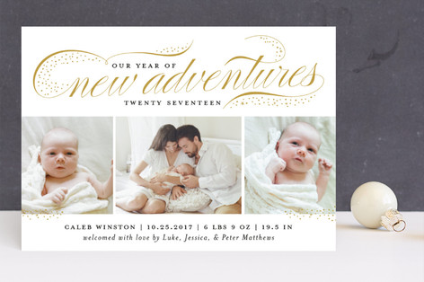 New Adventures New Year's Photo Cards