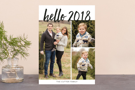 hello new year! New Year's Photo Cards