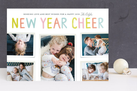 Cheer for a New Year New Year's Photo Cards