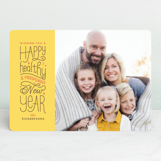 A Healthy New Year New Year's Photo Cards