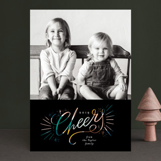 Cheers glow New Year's Photo Cards