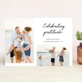Celebrating Gratitude New Year's Photo Cards