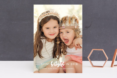 Shine Bright New Year's Photo Cards