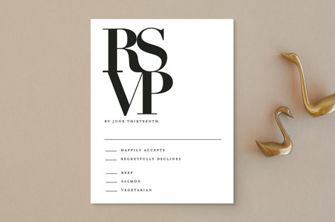 The Minimalist RSVP Postcards