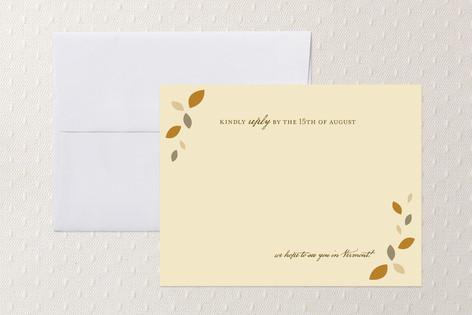 Autumn Wreath RSVP Cards