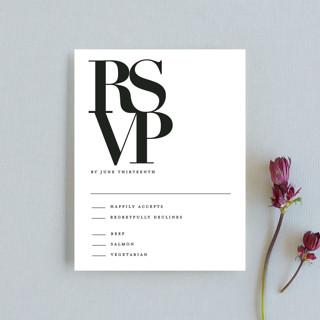 The Minimalist RSVP Cards