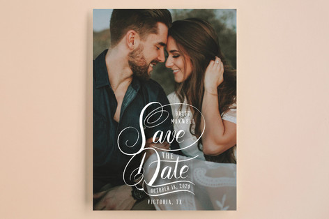 Stacked Script Save the Date Save the Date Cards