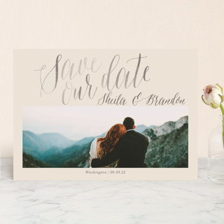 Soft Script Save the Date Cards