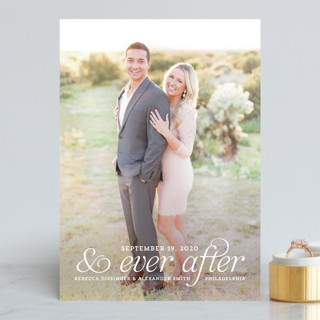 and Ever After Save the Date Cards