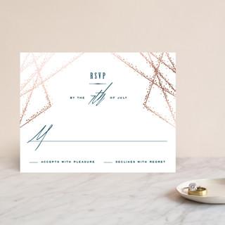 Starcrossed Foil-Pressed RSVP Cards