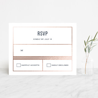 Nautical By Nature Foil-Pressed RSVP Cards