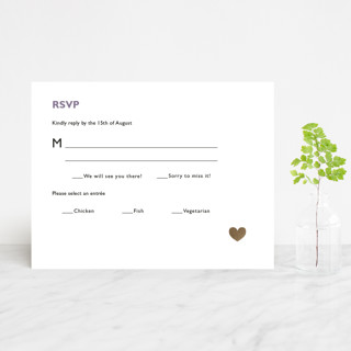 Destination Foil-Pressed RSVP Cards