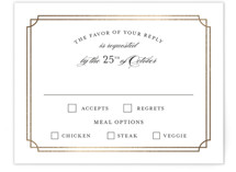 Luxe Border Foil-Pressed RSVP Cards