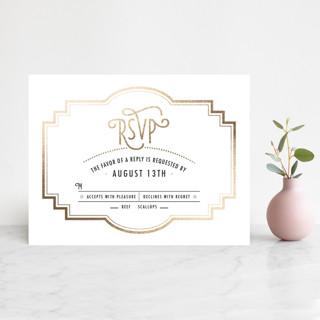 Ascot Chic Foil-Pressed RSVP Cards