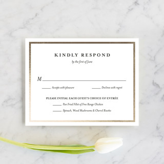 Nyc Style Foil-Pressed RSVP Cards