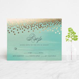 Confetti Foil-Pressed RSVP Cards