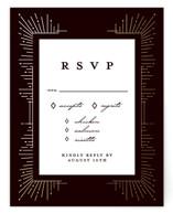Geometric Sparks Foil-Pressed RSVP Cards