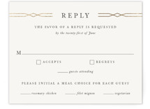 Traditional Twist Foil-Pressed RSVP Cards