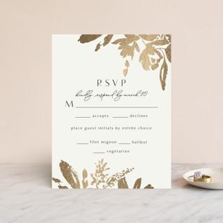 Wedding veil Foil-Pressed RSVP Cards