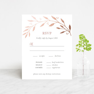 Vineyard Foil-Pressed RSVP Cards