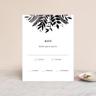 Garden Foil-Pressed RSVP Cards